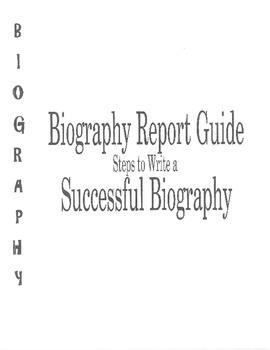 Biography Report Writing Guide Nonfiction Writing