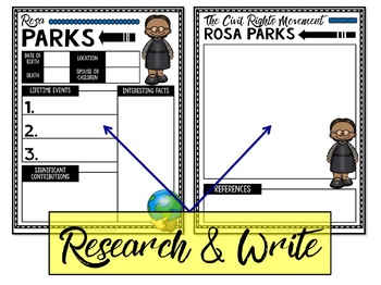 Biography Report and Informational Writing GOOGLE CLASSROOM BUNDLE