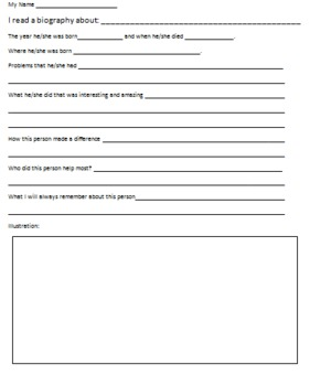 Biography Reporting Form