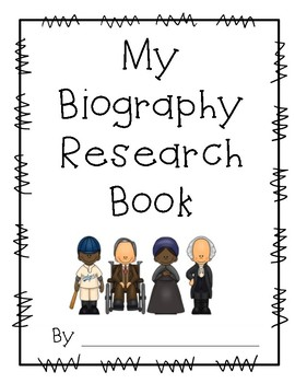 Biography Research Book & File Folder Project