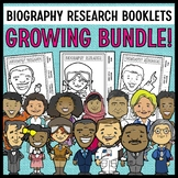 Biography Research Booklets GROWING BUNDLE! (50+ Figures I