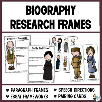 Biography Research Frames: Paragraph and Speech Templates (Live or Distance Lng)