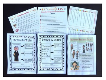 Biography Research Frames and Lit Circle Combo Pack (hard copy)