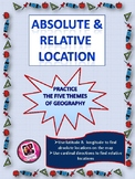 Absolute and Relative Location- Map Skills Practice Worksheet