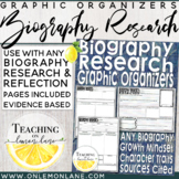 Biography Graphic Organizer (w/ Reflection Sheet) | Biography Planning Pages