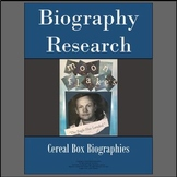 Biography Research Graphic Organizers/Cereal Box Display