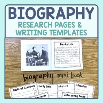 Biography Research & Informational Writing Templates (Target Dollar Spot books)
