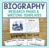 Biography Research & Informational Writing Templates (Targ