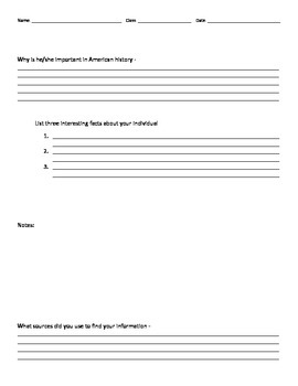 Biography Research Organizer