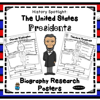 All American Presidents | Biography Research Graphic Organizer Posters