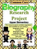 Biography Research Project Common Core