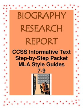 Biography Research Report Project MS/HS Complete Guide