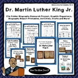 Biography Research Project -Dr. Martin Luther King Jr.-Printable Crafts Included