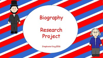 Biography Research Project Grades 1-4