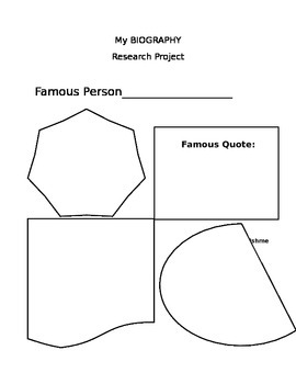 Biography Research Project Outline