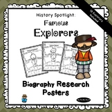 Biography Research Project Posters | 13 Famous Explorers