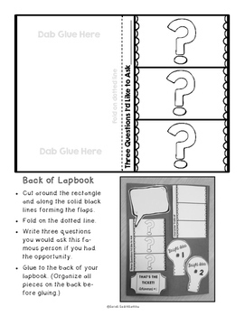 Biography Research Project and Lapbook {Use with Any Famous Person}