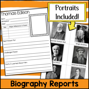 Biography Research Projects BUNDLE