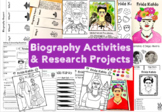 Biography Research Report / Frida Kahlo Biography worksheet