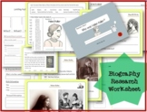 Biography Research Report / Helen Keller Biography worksheet