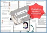 Biography Research Report / Stephen Hawking Biography worksheet
