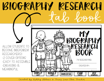 Biography Research Tab Book