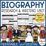 Biography Report Template and Project | Printable & Digital | Google Classroom
