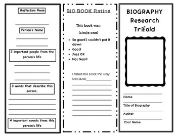 Biography Research Trifold