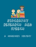 Biography Research and Speech - A Homework Project