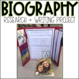 Biography Research Project   Writing Template and Lapbook