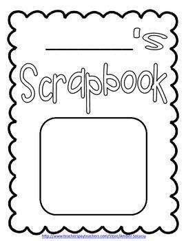 Biography Scrapbook Report Freebie!