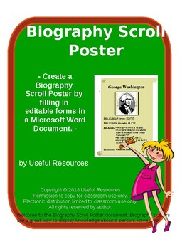 Biography Scroll Poster Using Fill-in Forms