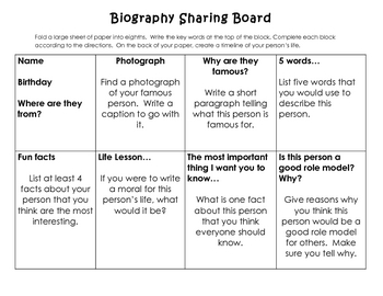 Biography Sharing Board