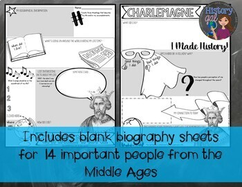 Biography Sheets for the Middle Ages