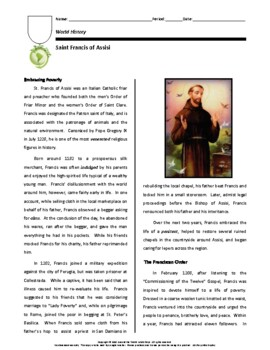 Biography: St. Francis of Assisi