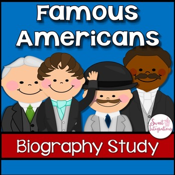 BIOGRAPHIES - FAMOUS AMERICANS Text Features and Lapbook G