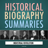 Industrial Revolution: American History Biography Webquest Activity