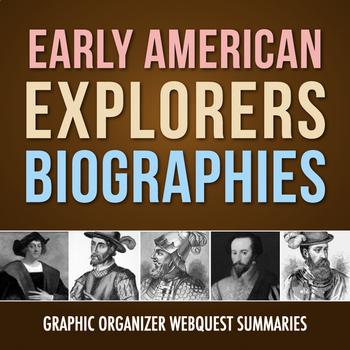 Biography Summaries: Early American Explorers Webquest (PDF & Google Drive)