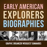 Early American Explorers: History Biography Webquest (PDF & Google Drive)