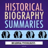 Influential Psychologists: Biography WebQuest Project (PDF & Google Drive)
