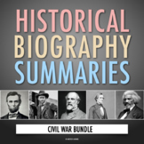 The Civil War: American History Biography Webquest Activit