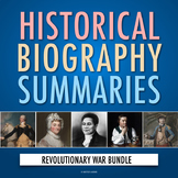 American Revolution: Biographies of the Revolutionary War