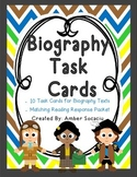 Biography Task Cards with Reading Response Sheets