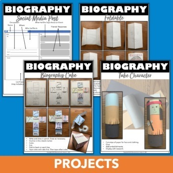 Biography Projects: Templates, Research, and Crafts for Any Famous Person