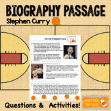 Biography Passage with Activites, Comprehension and TEI Qu