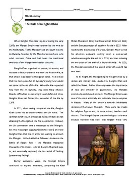Biography: The Rule of Genghis Khan