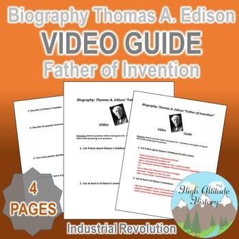 Biography Thomas A. Edison: Father of Invention Original V