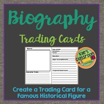 Biography Trading Card- Mini Biography Reoprt