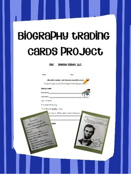 Biography Trading Card Project