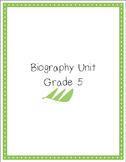 Biography Unit Grade 5